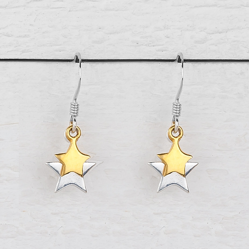 Cassiopeia Silver & Gold Star Earrings