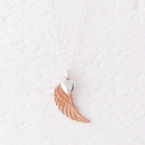 Parisa Rose Gold Angel Wing Necklace
