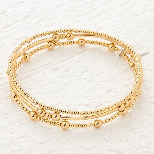 Eclipse Gold Set of 3 Bracelets