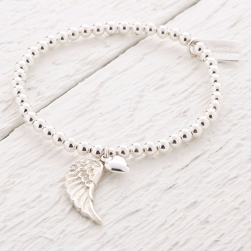 Parisa Silver Angel Wing Bracelet
