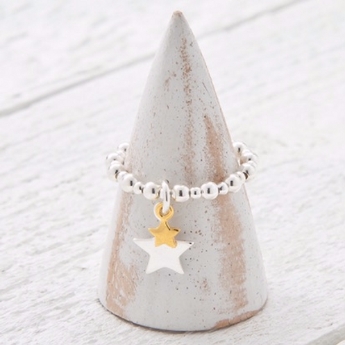 Cassiopeia Gold Charm Ring