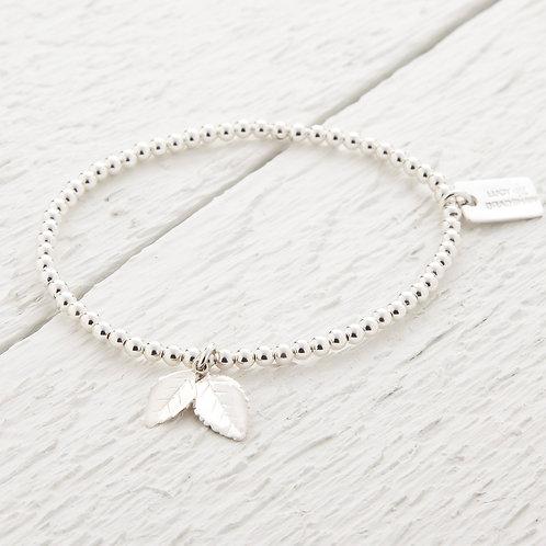 Amber Silver Leaf Bracelet