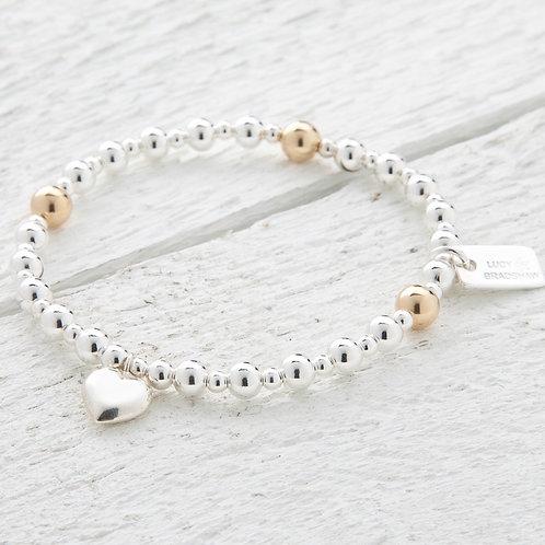 Bella Gold Heart Bracelet
