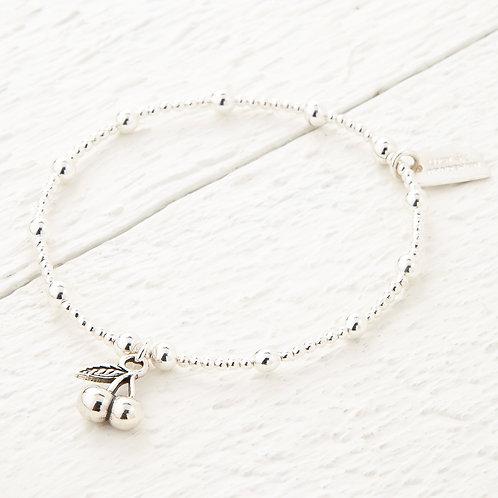 Cherry Silver Bracelet