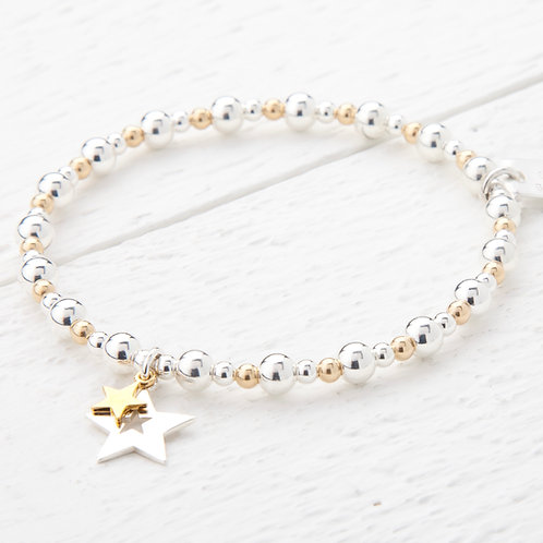 Phoebe Gold Star Bracelet