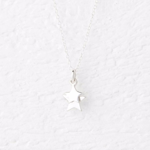 Cassiopeia Silver Star Necklace