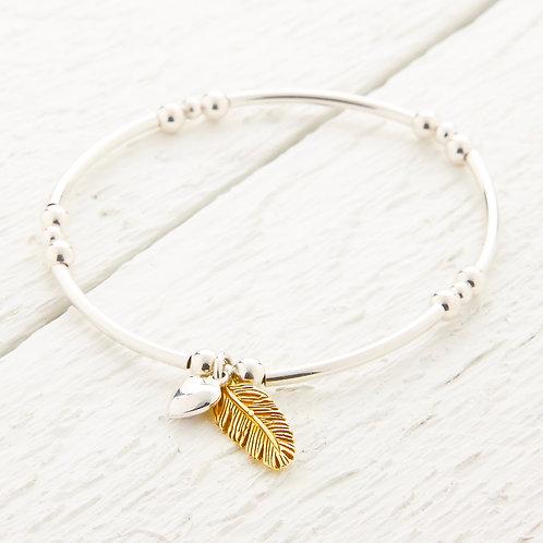 La Plume Feather Gold Bangle