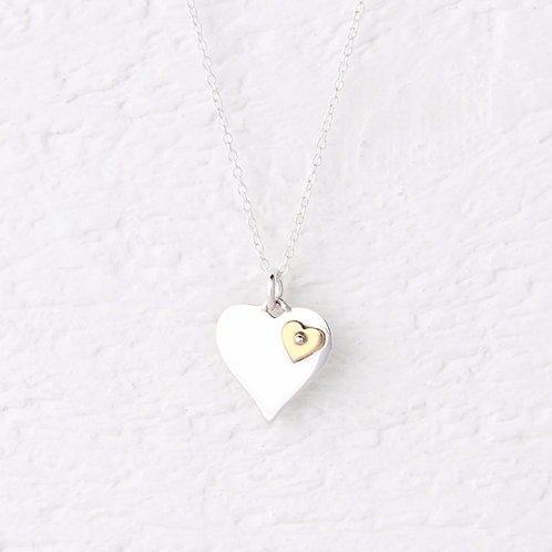 Olivia Gold Heart Necklace