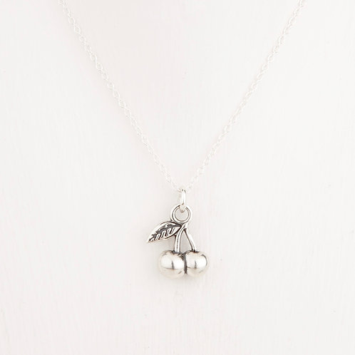 Cherry Silver Necklace
