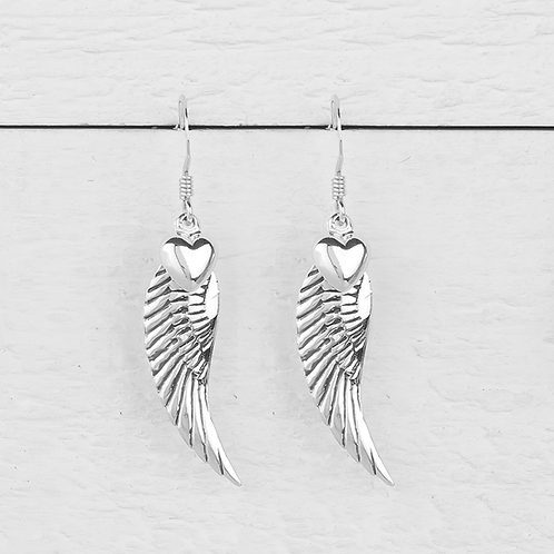 Angelina Large Angel Wings Earrings