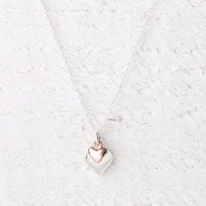 Davina Rose Gold Heart Necklace