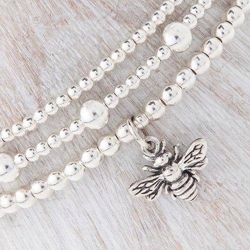 Belinda Silver Bee Bracelet Set