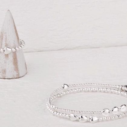 Isabella Silver Bracelet & Ring Set