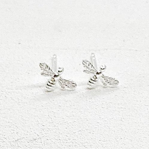 Beatrice Bee Silver Stud Earrings