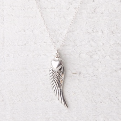 Angelina Large Angel Wing Necklace