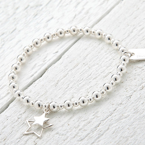 Aurora Silver Star Bracelet