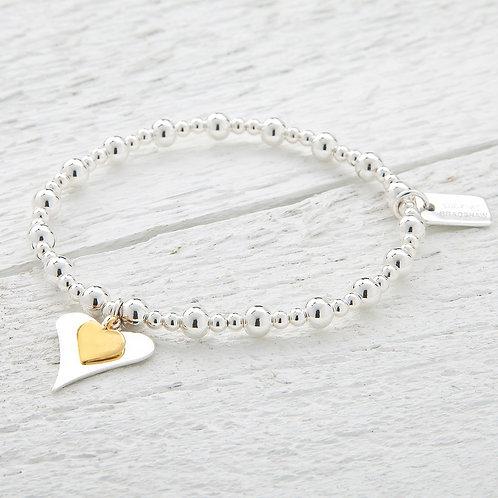 Katie Gold Heart Bracelet