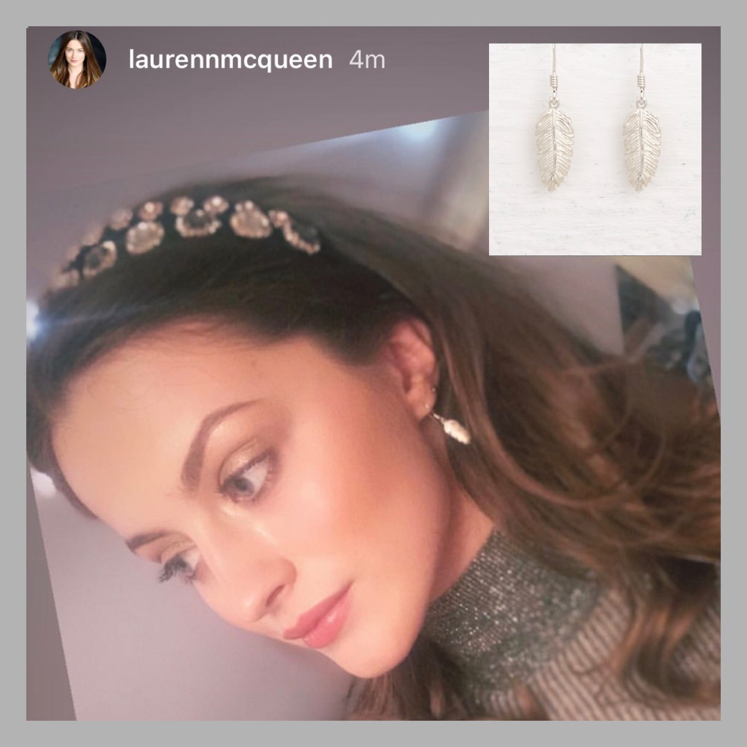 Lauren McQueen Wearing Our Earrings