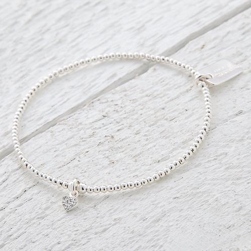 Gemma Silver Heart Bracelet