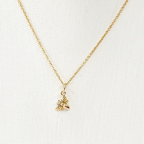 Millie Tiny Gold Bee Necklace