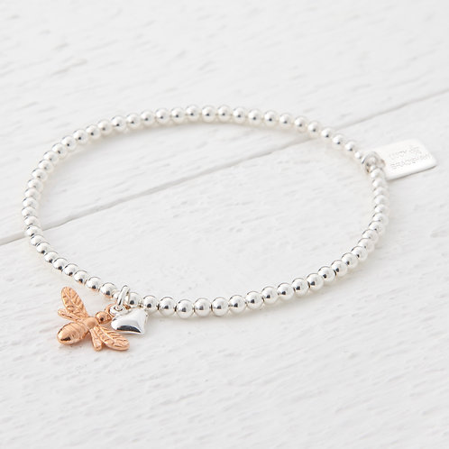 Beatrice Rose Gold Bee Bracelet