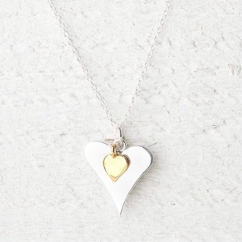 Katie Gold Heart Necklace