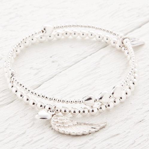 Parisa Silver Bracelet Set Of Two