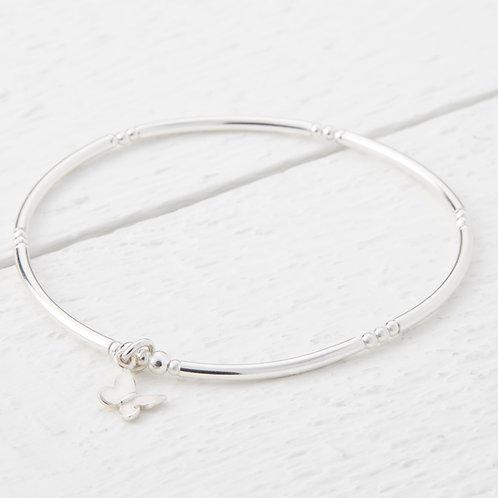 Cressida Butterfly Silver Bracelet