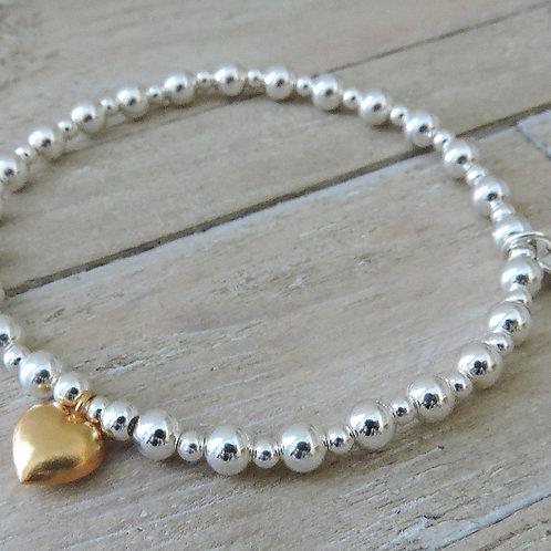 Bella Gold & Silver Charm Bracelet