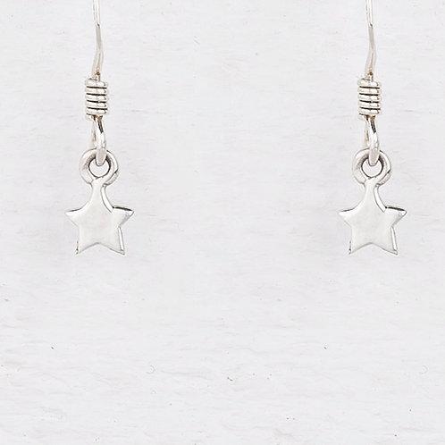 Cassiopeia Mini Silver Star Earrings