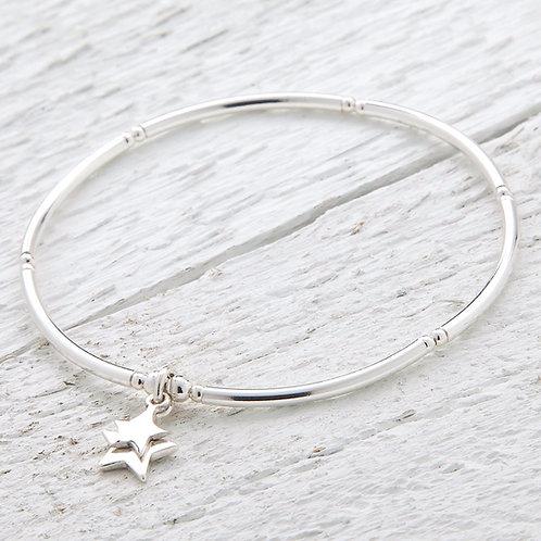 Cassiopeia Silver Star Bracelet