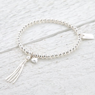 Chloe Silver Heart Bracelet