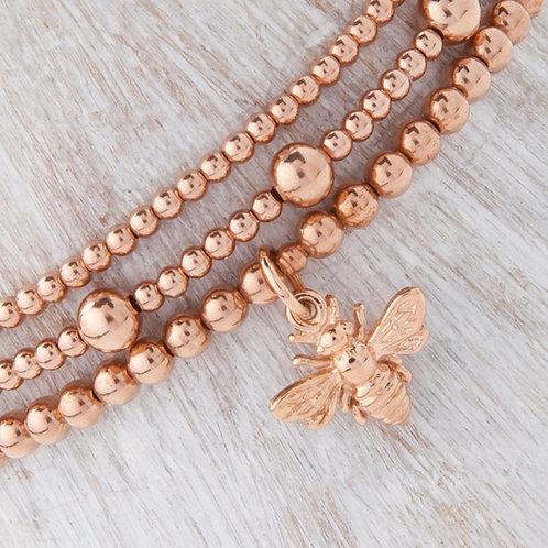 Belinda Rose Gold Bee Bracelet Set