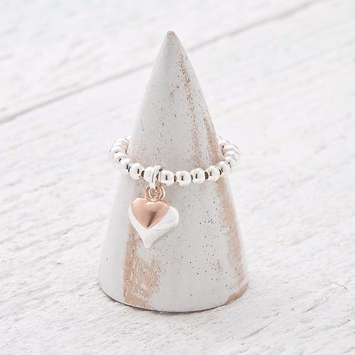 Davina Rose Gold Charm Ring