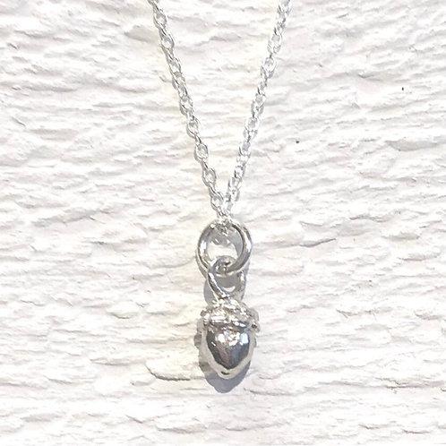 Aruba Silver Acorn Neckkace