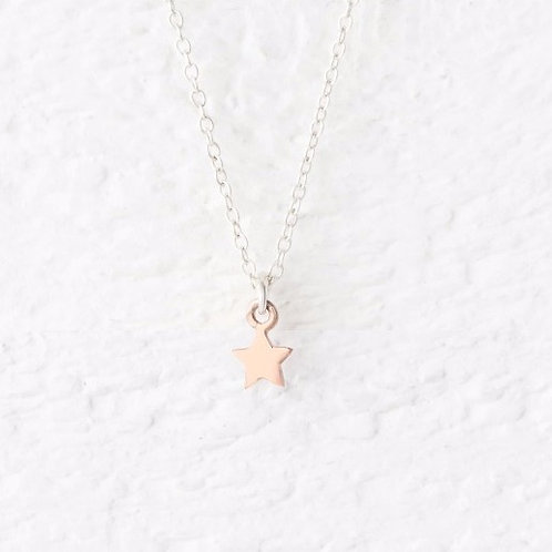 Cassiopeia Mini Rose Gold Star Necklace
