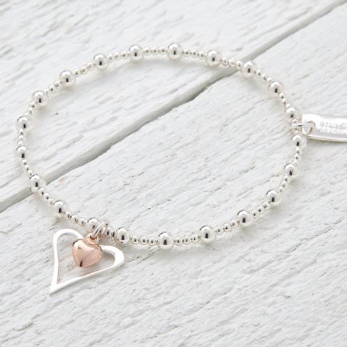 Amelia Rose Gold Heart Bracelet