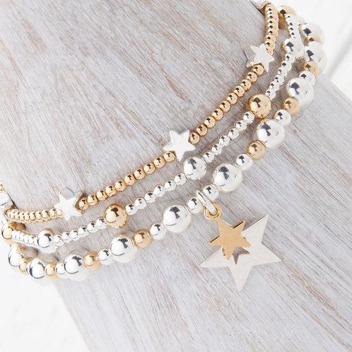 Phoebe Gold Star 3 x Bracelet Set