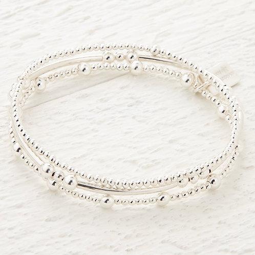 Eclipse Silver Set of 3 Bracelets