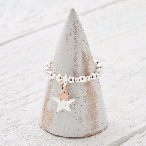 Cassiopeia Rose Gold Charm Ring