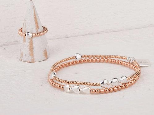 Isabella Rose Gold Bracelet & Ring Set