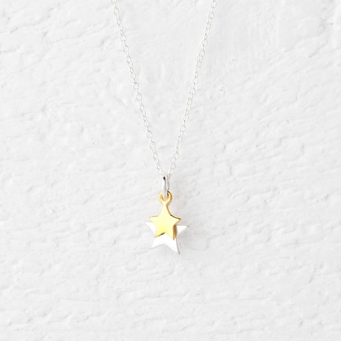 Cassiopeia Silver & Gold Star Necklace