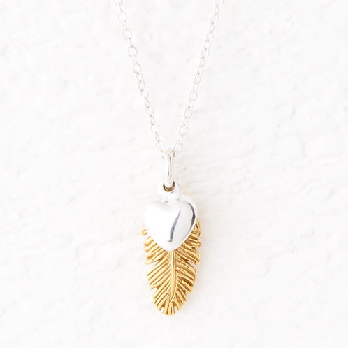 La Plume Small Gold Feather Necklace