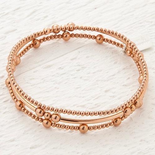 Eclipse Rose Gold Set of 3 Bracelets