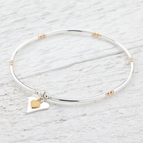 Lola Silver & Gold Heart Bracelet