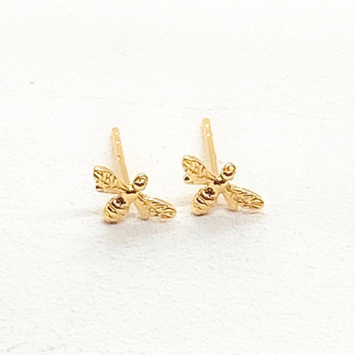Beatrice Bee Gold Stud Earrings