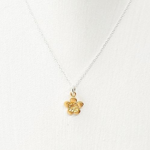 Emika Gold Flower Necklace