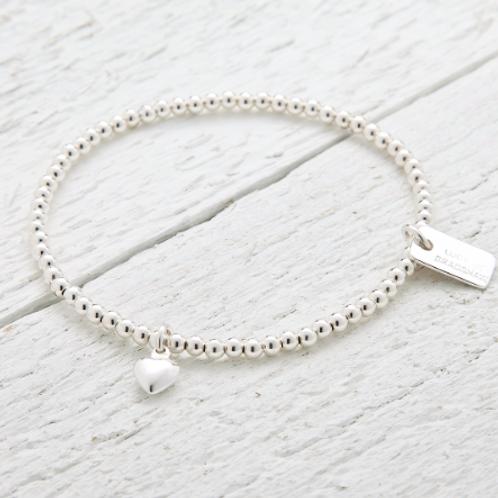 Jessica Silver Heart Bracelet
