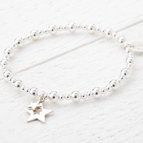 Phoebe Silver Star Bracelet