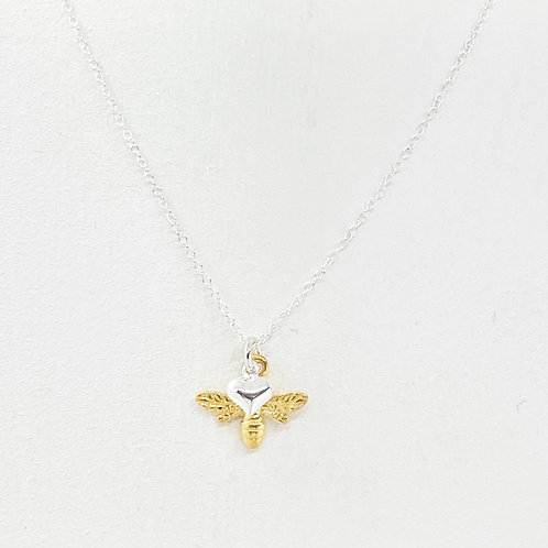 Beatrice Gold Bee Necklace